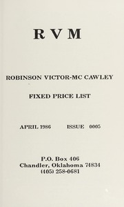 Robinson Victor-McCawley Fixed Price List #5