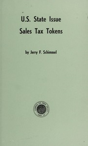 U.S. State Issue Sales Tax Tokens