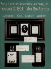 Mail Bid Auction: December 2, 1995 - Autographs, Coins, Currency, Americana
