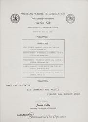 American Numismatic Association Auction Sale