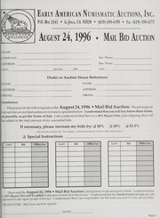 Mail Bid Auction: August 24, 1996 - Autographs, Coins, Currency, Americana