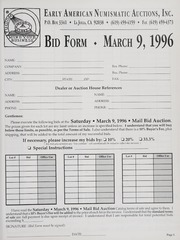 Mail Bid Auction: March 9, 1996 - Autographs and Americana
