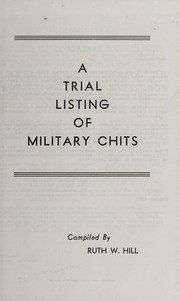A Trial Listing of Military Chits
