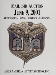 Mail Bid Auction: June 9, 2001 - Autographs, Coins, Currency, Americana