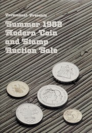 Summer 1982 Modern Coin and Stamp Auction Sale