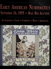 Mail Bid Auction: September 16, 1995 - Autographs, Coins, Currency, Americana