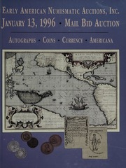 Mail Bid Auction: January 13, 1996 - Autographs, Coins, Currency, Americana