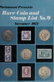 Rare Coin and Stamp List No. 9