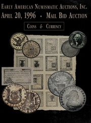 Mail Bid Auction: April 20, 1996 - Coins and Currency