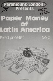 Paper Money of Latin America: Fixed Price List No. 2