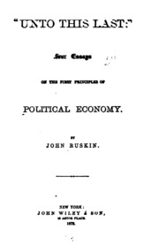 four essays on the first principles of political economy Buy 'unto this last:' four essays on the first principles of political economy by john ruskin (isbn: ) from amazon's book.