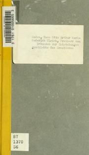 Urkunden zur Entstehungsgeschichte des Donatismus. Hrsg. von Hans von Soden