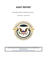 Audit Of NRC-s Freedom Of Information Act Process