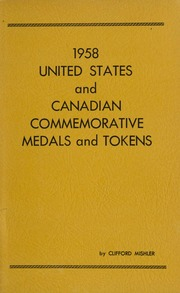 1958 United States and Canadian Commemorative Medals and Tokens