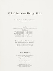 United States and Foreign Coins