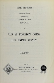 U.S. and Foreign Coins, U.S. Paper Money