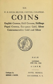 U.S. gold, silver, copper, colonial coins ... [06/29/1946]