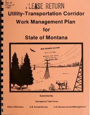 Pur glossary for utility management public utilities reports vol 1980 utility transportation corridor work management plan for state of montana publicscrutiny Gallery