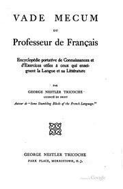 Vade Mecum du professeur de Francais