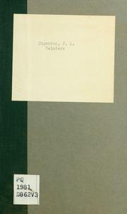 Valmiers; ou, L-empire des préjugés; drame en prose et en cinq actes