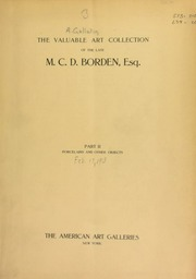 The valuable art collection of the late M. C. D. Borden ... [02/17/1913]