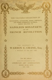 The valuable Napoleonic collection of Warren C. Crane ... [11/13/1913]