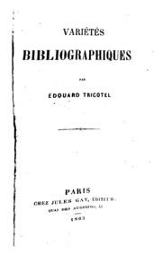 Variétés bibliographiques