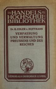 Verfassung und Verwaltung Preussens und des Reiches