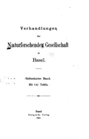 Vol 17: Verhandlungen der Naturforschenden Gesellschaft in Basel
