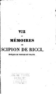 Vol 3: Vie et mémoires de Scipion de Ricci