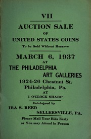 VII. Auction sale of United States coins ... at the Philadelphia Art Galleries ... [03/06/1937]