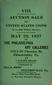 VIII. Auction sale of United States coins ... at the Philadelphia Art Galleries ... [05/22/1937]