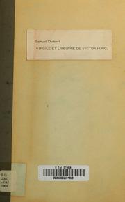 Virgile et l-oeuvre de Victor Hugo : un exemple de l-influence virgilienne : index préalable