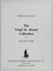 The Virgil M. Brand Collection: American Coins, Part II