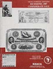 Virginia Numismatic Association Richmond, 1987 Confederate Sale