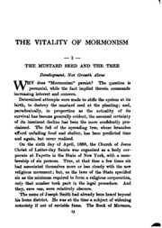 the vitality of mormonism brief essays on distinctive doctrines the vitality of mormonism brief essays on distinctive doctrines of the church of jesus christ of latter day saints