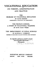 """philosophy vocational education Vocational and technical education has historically been known as """"education for work""""  principles and a philosophy for vocational education."""