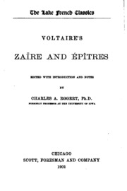 voltaire s essay on epic poetry a study and an edition  voltaire s zaire and epitres
