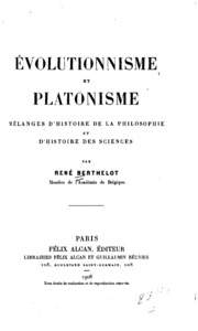 Évolutionnisme et platonisme;