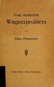 Vom modernen Wagnerproblem