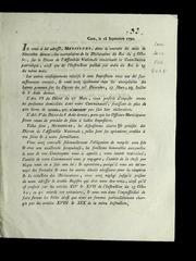 ... Il vous a été adressé, messieurs, dans le courant du mois de novembre dernier, des exemplaires de la déclaration du roi du 9 octobre, sur le décret de l-Assemblée nationale concernant la contribution patriotique..