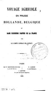 Voyage agricole en Prusse, Hollande, Belgique et dans plusiers parties de la ...