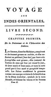 Voyage aus Indes orientales, tr. par M***, avec les observations de mm. Anquetil du Perron, J.R ...