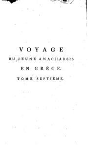 Voyage du jeune Anacharsis en Grèce,