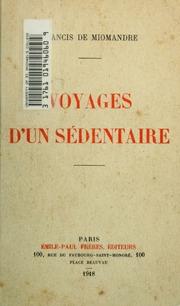 Voyages d-un sédentaire