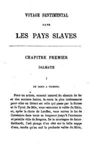 Voyage sentimental dans les pays slaves