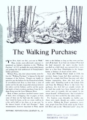 The walking purchase / [text by William A. Hunter ; illustrations and map by William Rohrbeck ; edited by Donald H. Kent and William A. Hunter]. Second edition.