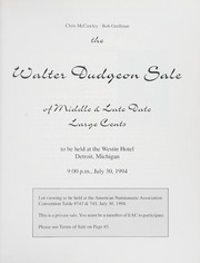 The Walter Dudgeon Sale of Middle & Late Date Large Cents