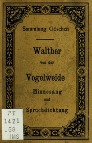 an introduction to the life of walther von der vogelweide a minnesang writer