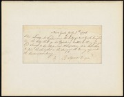 Warrant for arrest of John Lewis for drinking toast to King and English fleet [manuscript]